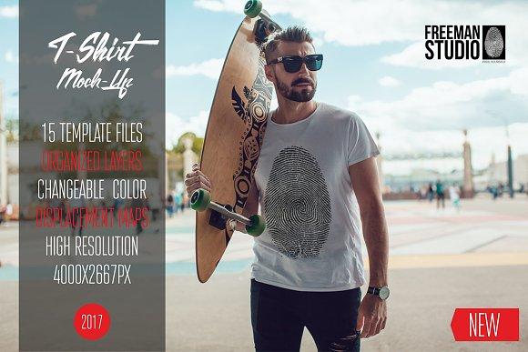 Free Men's T-Shirt Mock-Up Vol.3 2017