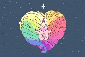 ♥ vector lovely unicorn