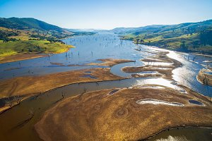 Aerial view of Lake Hume