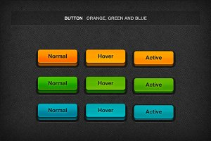 3D Colored Buttons