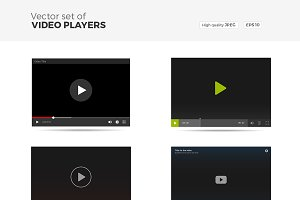Vector Set of Video Players