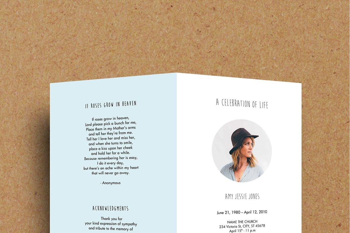 Funeral Program Template Printable