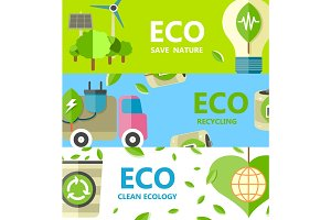 Save Nature, Recycling and Clean Ecology Poster