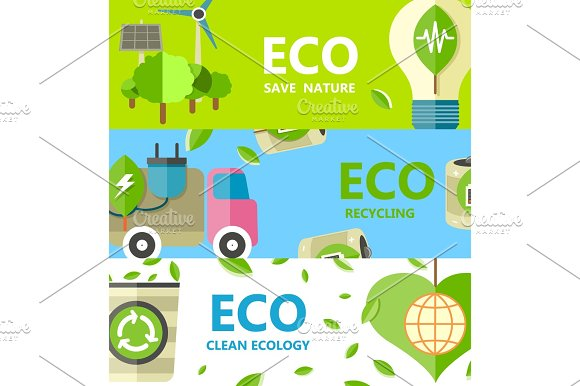 Save Nature Recycling And Clean Ecology Poster