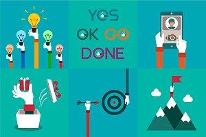 Simple business concepts set