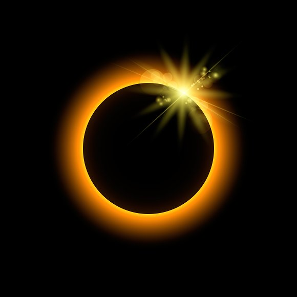 Eclipse With Sun Rays
