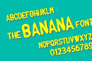 The banana font
