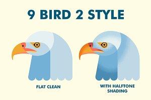 9 Bird Flat Vector 2 Style