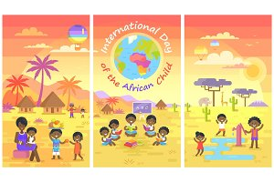 International Day of African Child Posters Set