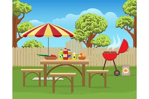 Summer backyard fun bbq