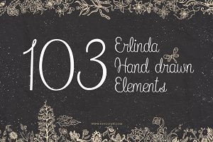 103 Erlinda Hand Drawn Elements