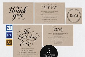 Wedding invitation set Wpc 148