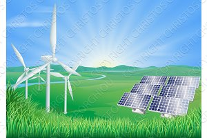 Renewable energy illustration