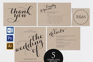 Wedding invitation set Wpc 149