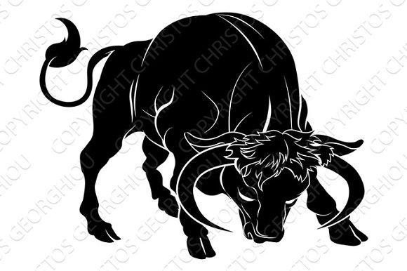 Stylised Bull Illustration