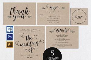 Wedding invitation set Wpc 150