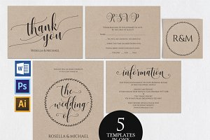 Wedding invitation set Wpc 151