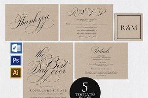 Wedding invitation set Wpc 152
