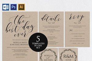 Wedding invitation set Wpc 153