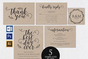 Wedding invitation set Wpc 155