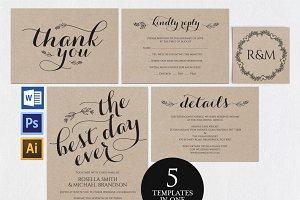 Wedding invitation set Wpc 156
