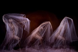 The sensual and emotional dance of beautiful ballerina