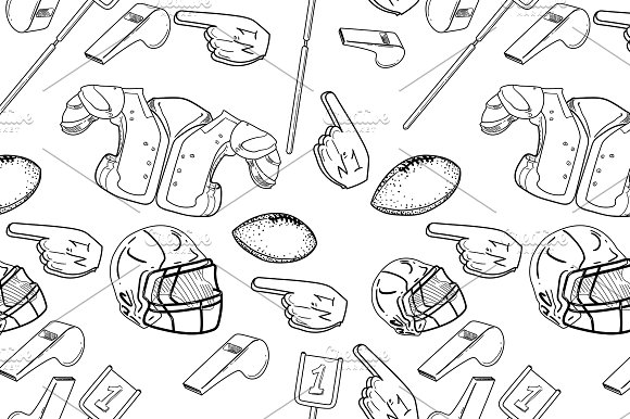 American Football Seamlees Pattern