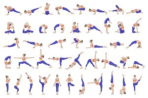 75 Yoga poses. Big collection
