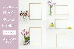 Spring Frame Mockup Bundle, A4 Frame