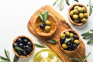 Olives on white