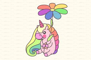 ♥ vector cute unicorn