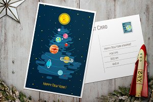 Post Card - Happy New Year Universe