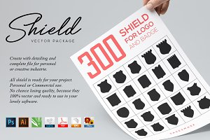 300 Shield For Logo & Badge