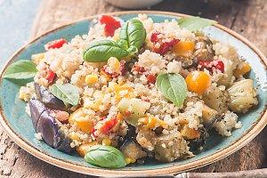 Quinoa salad. Superfoods concept.