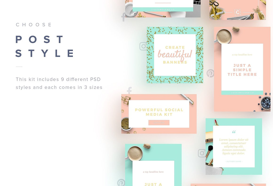 Social Media Kit + Stock Photos