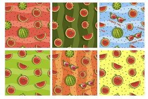 Seamless pattern watermelons