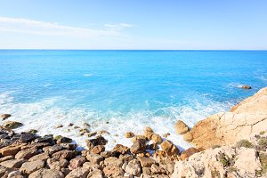 Coast Near Nice, Cote D'azur, French Riviera, France