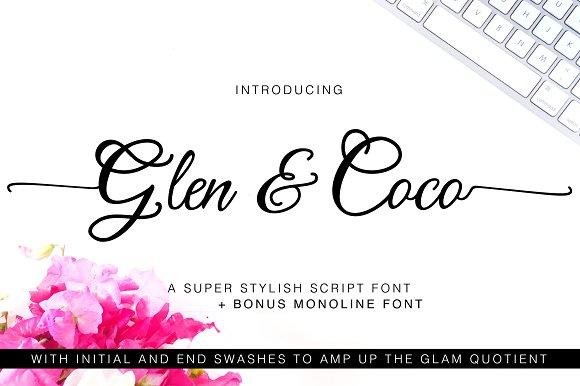 Glen Coco Font Bonus Font