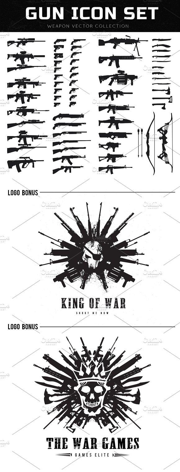 Weapon Vector Set And Dark Logo