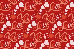 Love kiss pattern vector
