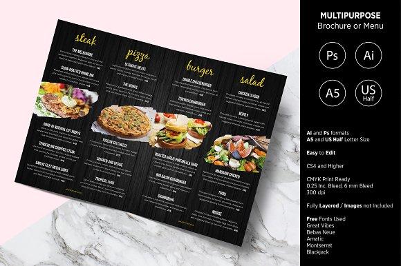 Multipurpose Brochure or Menu
