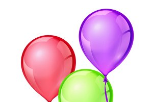 Vector color birthday party balloons