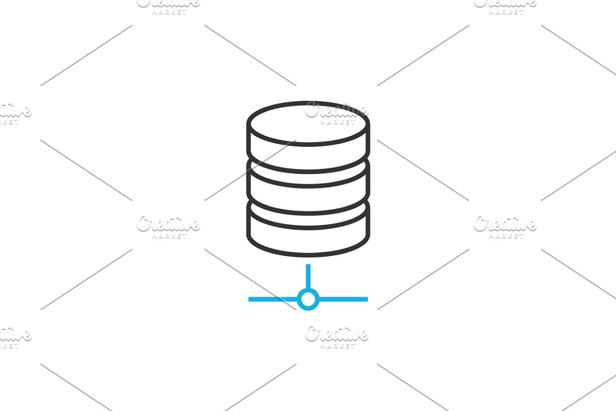 Database line icon in Graphics - product preview 8