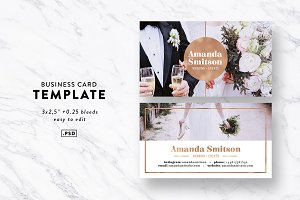 Rose Gold Business Card Template