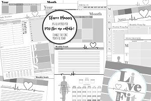 Editable Fitness Planner Templates