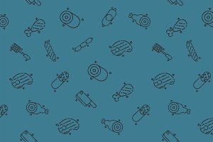Meat concept icons pattern