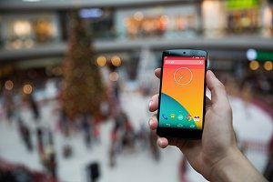 Nexus5 template, Snowy Xmas (S)