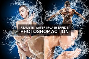 Water Splash Photoshop Action