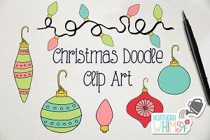 Hand Drawn Christmas Ornaments