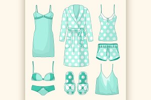 Set of womens homewear